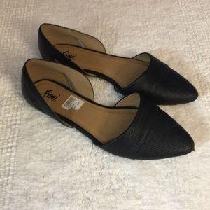 FIONI Clothing Shoes - Women's Fioni Black Giulia Flat
